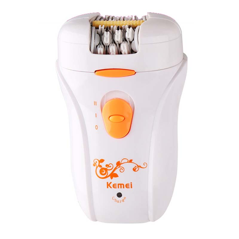 Kemei KM-2099 2 in1 epilator hair removal lady shaver depilation electric depilator hair trimmer for women original kemei women electric epilator rechargeable washable lady shaver hair body hair trimmer shave wool removal device