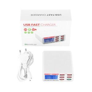 Image 4 - Универсальный USB адаптер для быстрой зарядки 3,0, 6 USB портов, 40 Вт, 5 В, 6 А