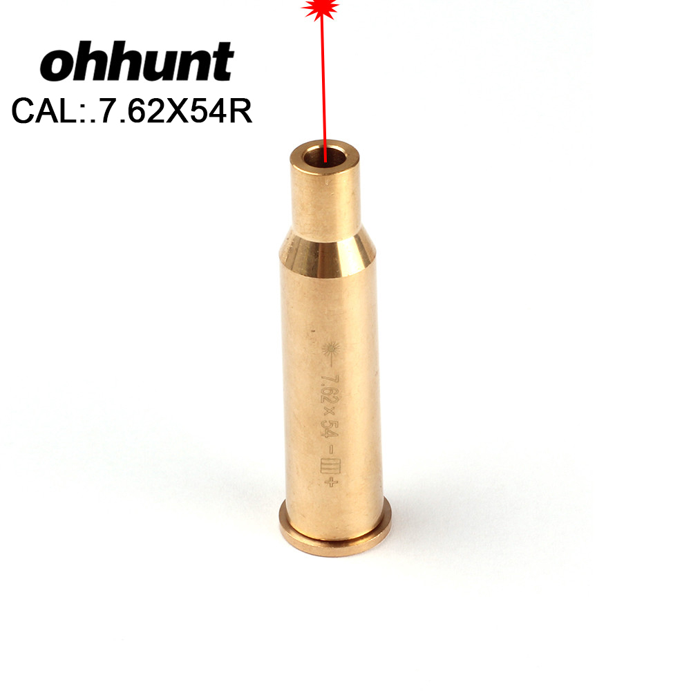 ohhunt Hunting Shooting Boresighter Cal 7.62X54R Cartridge Laser Bore Sighting Colimador Red Laser Sight for Tactical Rifle