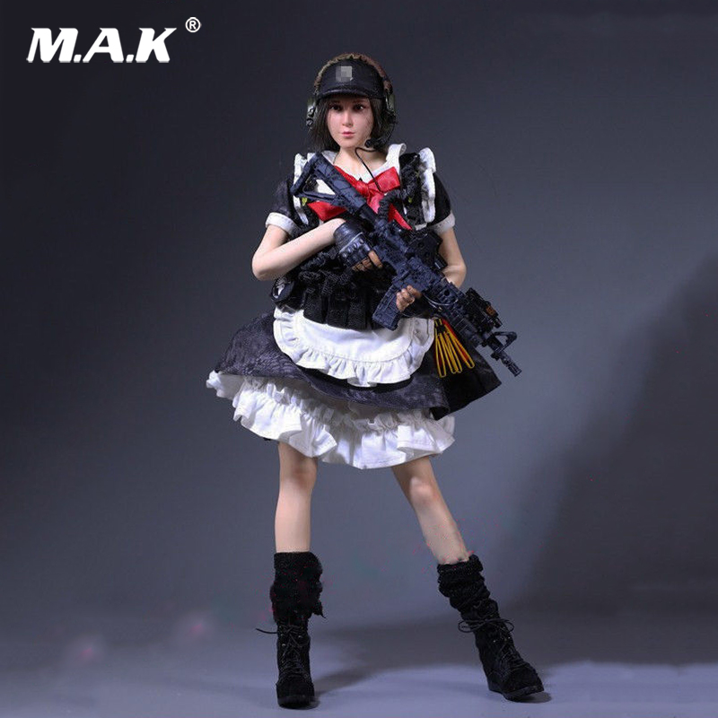 1:6 Scale MCC-003 Black Python Camouflage Armed Maid Suit Clothes Set for 12 inched Female Shooter Collectible Action Figure 1 6 scale camouflage suit fg015 desert