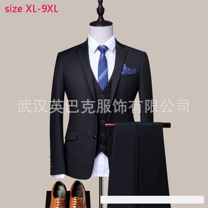 Di nuovo modo super grande Vestito Degli Uomini Elastico Best Abito Da Sposa Sposo Regolare Monopetto Formale di alta qualità formato XL 7XL8XL9XL-in Completi uomo da Abbigliamento da uomo su  Gruppo 2