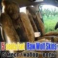 Envío gratis Vino Tinto lobo coche asiento de coche de lana cojín amortiguador del coche del chenille de lana corta de lana accesorios de piel de oveja