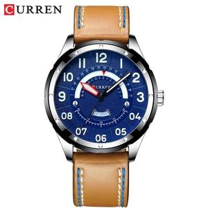 Image 5 - CURRENนาฬิกาข้อมือนาฬิกาผู้ชายแฟชั่นนาฬิกาหนังผู้ชายนาฬิกาปฏิทินวันที่นาฬิกาควอตซ์ชายนาฬิกาCasual