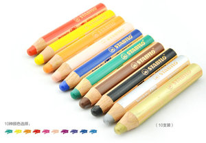 Image 2 - STABILO Woody 3 in 1 Multi Talented Pencil  Assorted Colors Wallet of 6/10/18 Colors