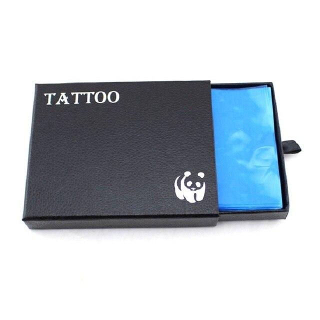Pro Blue Disposable Hygiene Tattoo Supply Machine Gun Covers Bags Clip Cord Sleeves 1box For Tattoo Accessories 200pcs/box