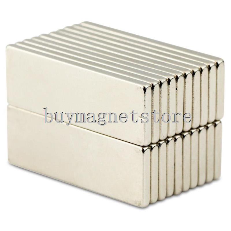 20pcs N35 Bulk Super Strong Strip Block Bar Long Magnets Rare Earth Neodymium 30 x 10 x 2 mm ndfeb 30*10*2 the long war long earth 2