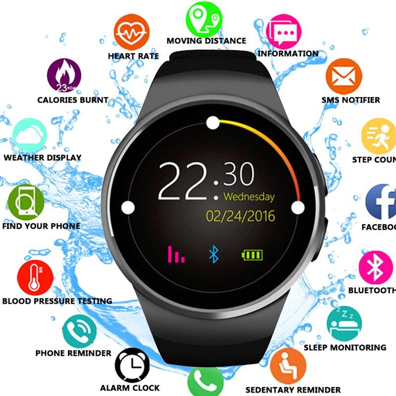 2018 QUNIWO haute montre intelligente passomètre moniteur fréquence cardiaque soutien Smartwatch pour IOS Android Bluetooth Sport intelligent montres hommes