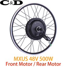 "electric wheel Motorized Wheel Direct Drive Hub Motor wheel 48V 500W MXUS Brand 20"" 24"" 26"" 27.5"" 700C Optional"