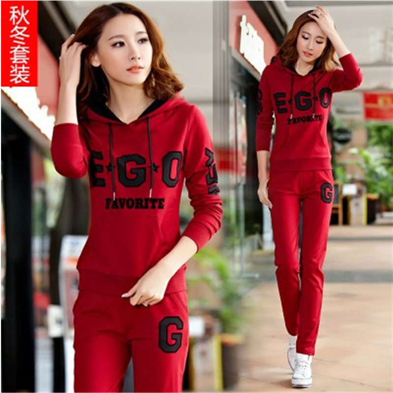 2016Korean version of the Spring and Autumn running suit  sweater sportswear girls high school student sports two - piece suit fundamentals of physics extended 9th edition international student version with wileyplus set