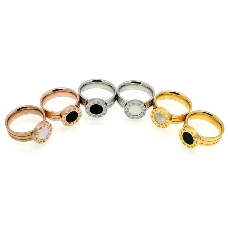 Panas!! Merek terkenal Wanita Rings Emas / Rose Gold Warna Stainless - Perhiasan fashion - Foto 2