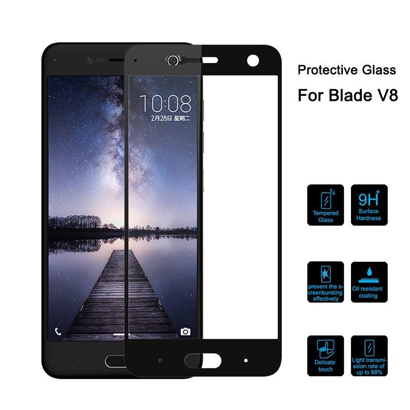 Tempered Glass On For ZTE Blade V8 5.2 Inch Full Cover Protective Glass For Zte Blade V8 BV0800 V0800 Screen Protector Glas V 8