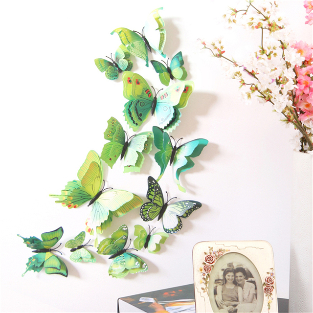 Pcs D Butterfly Wall Stickers Home DIY Decor Wall Decals For - Butterfly wall decals 3d