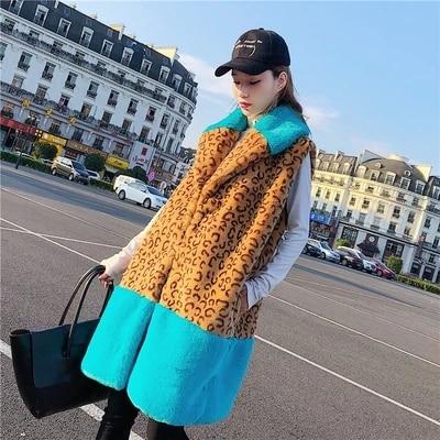 Новинка 2018, Леопардовый жилет из искусственного кроличьего меха M1|Куртки из искусственного меха| | АлиЭкспресс