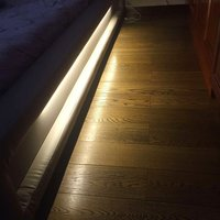 UnvarySam 12V Dimmable LED Bed Lights Single Strip Soft Warm White with Delay Time Adjustable Light Bedroom Lamp Closet Lamps