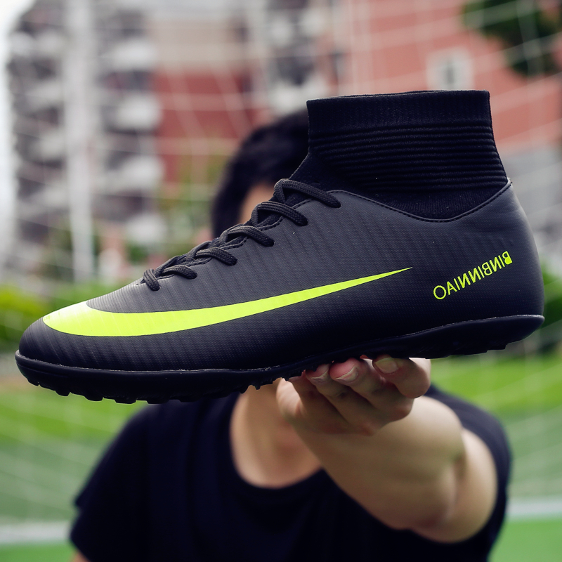 Turf TF & Long Spikes Indoor Futsal Soccer Boots Sneakers Men Soccer Cleats Original Cheap Football with Sports for Women & Men image