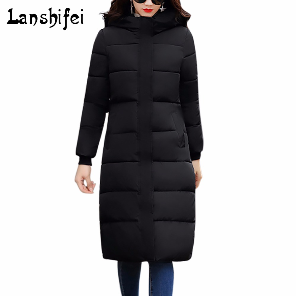 Women Winter Coat Jacket Warm Woman Parkas Female Hooded Overcoat High Quality Quilting Cotton Coat 2017 New Winter Collection tfmln 2017 new warm women parkas down cotton jacket hooded coat woman outwear clothes winter high quality jacket with pockets
