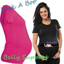 European American Plus Size Funny Printed Maternity Tee Shirts Women Summer Apparel Cotton Pregnant T shirt