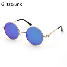 Glitztxunk 2018 Fashion Round Children Sunglasses Boys Girls