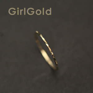 Image 3 - 14k Solid Gold Ring,thin Ring, Stacking Ring, Dainty Gold Ring, Minimalist, Mid century Bff Bride