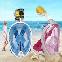 Forfar Anti Fog Full Face Snorkeling Mask Diving Snorkel 2 In 1 For Gopro 180 Degree Dry Easy Free Breath Dive Gear Tube Scuba