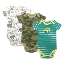 3Pcs/Lot Uniesx Newborn Baby Rompers Clothing  Infant Jumpsuits 100%Cotton Children Roupa De Bebe Girls&Boys Clothes