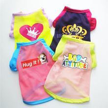 Cute dog summer breathable shirts mesh thin section short sleeve small shirt trend hawaiian
