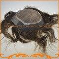 Старший товаровед топ шелка и вокруг ПУ вводят шелковый узел мужчины парик выглядит очень естественно, прямая волна мужские парики бесплатно доставка