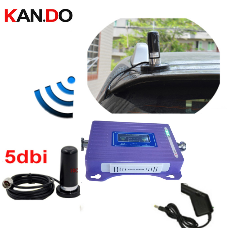 Special For Car 2G 3G Repeater With Cable Antenna LCD Display Dual Bands GSM 3G Booster Repeater DCS 900 2100mhz 3g Booster