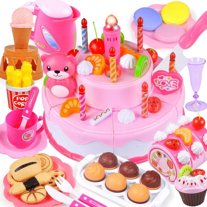 37 80 Stücke Diy Obst Schneiden Pretend Spielen Geburtstag Kuchen