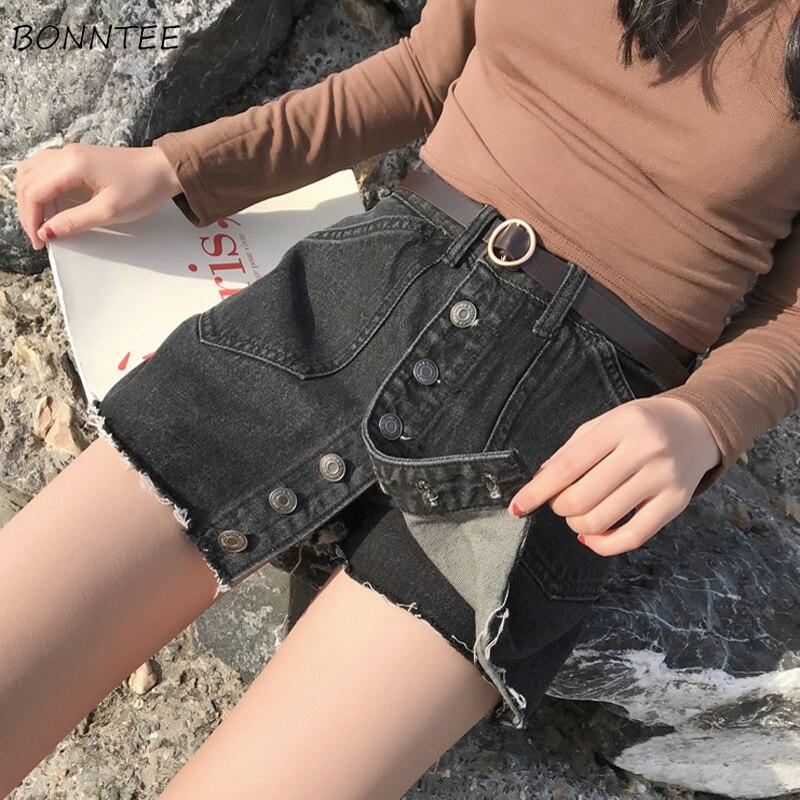 Shorts Women Elegant Fashion 2019 Simple All-match Womens Korean Version Trendy Summer Breathable Ladies Slim Female Black Chic