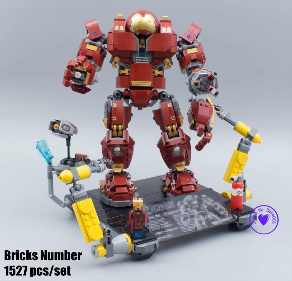 New Superheroes IronMan hulkbuster fit endgame infinity war Avengers 4 marvel figures Building Brick Block 76105