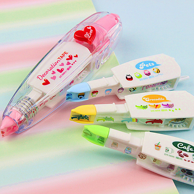 6 set/Lot Super value package Lace correction tape Cute animal decoration tapes material escolar School supplies 6578 цена и фото