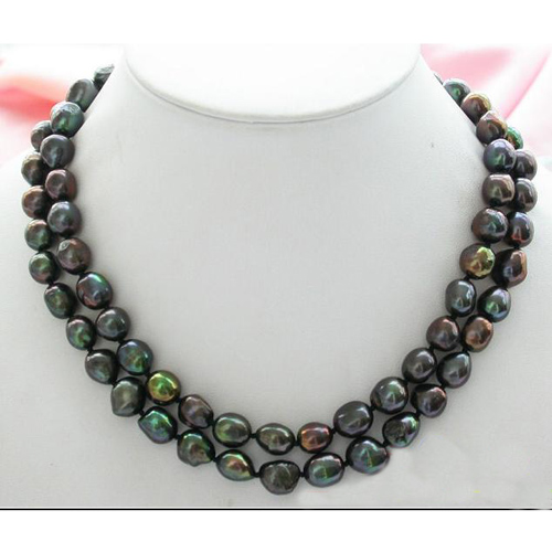 Perfect New Arriver Pearl Jewellery,34inches 9-11mm Peacock Black Baroque Freshwater Pearl Necklace,Long Pearl JewelryPerfect New Arriver Pearl Jewellery,34inches 9-11mm Peacock Black Baroque Freshwater Pearl Necklace,Long Pearl Jewelry