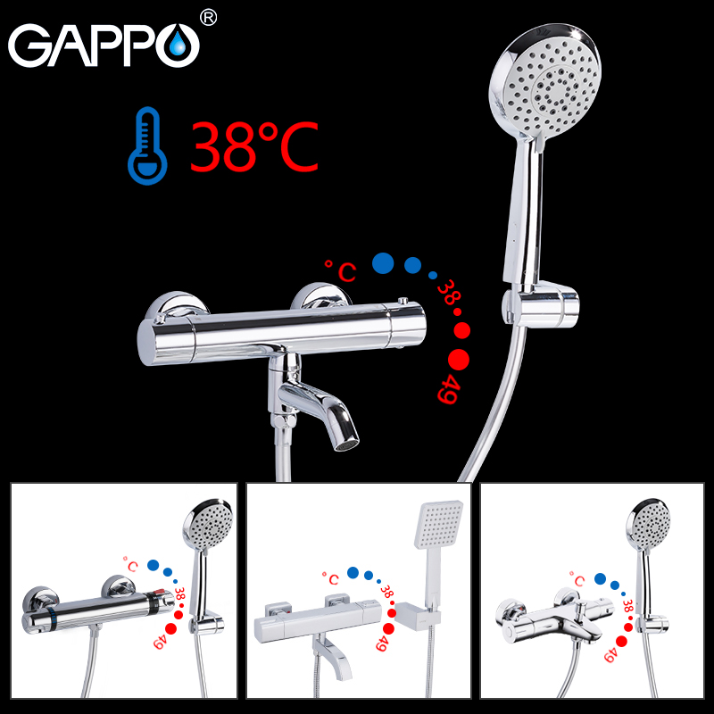 GAPPO Thermostatic Shower Faucets bath mixer taps with thermostat wall mounted shower mixer waterfall tapware shower