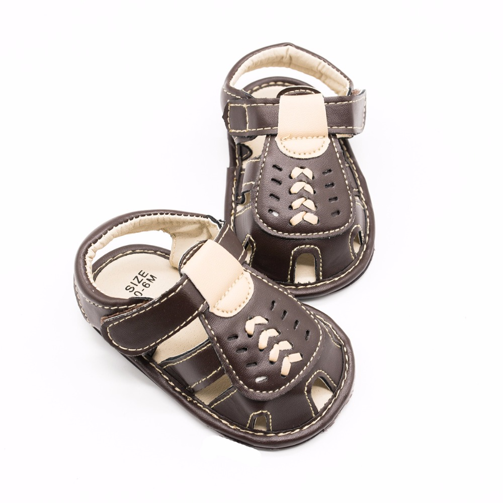 Boys Leather Childrens Shoes Skid-Proof Soft-Sole Shoes The First Walk For Newborn Baby Bed Shoes