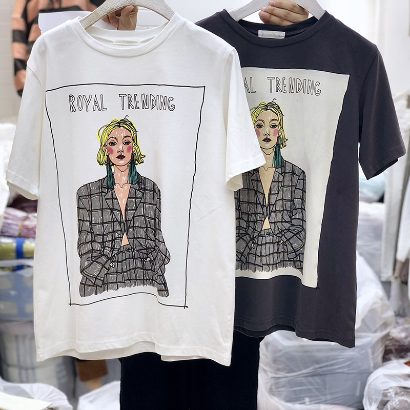 fashion Kawaii T Shirt Summer Women Tops 2018 Harajuku T-shirts Print Loose Short Sleeve Plus Size Tee Shirt Femme