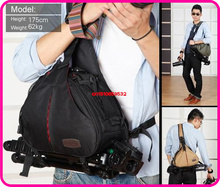 Caden K1 Waterproof Messenger Shoulder Camera Bag case Video diagonal Triangle Carry For DSLR/SLR/TLR 340*130*240mmFree Shipping
