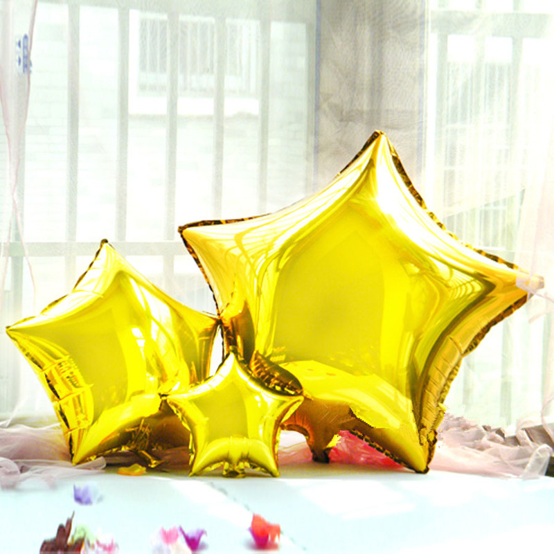 24 inches wedding decoration star aluminium foil balloons for 7 star balloon decoration