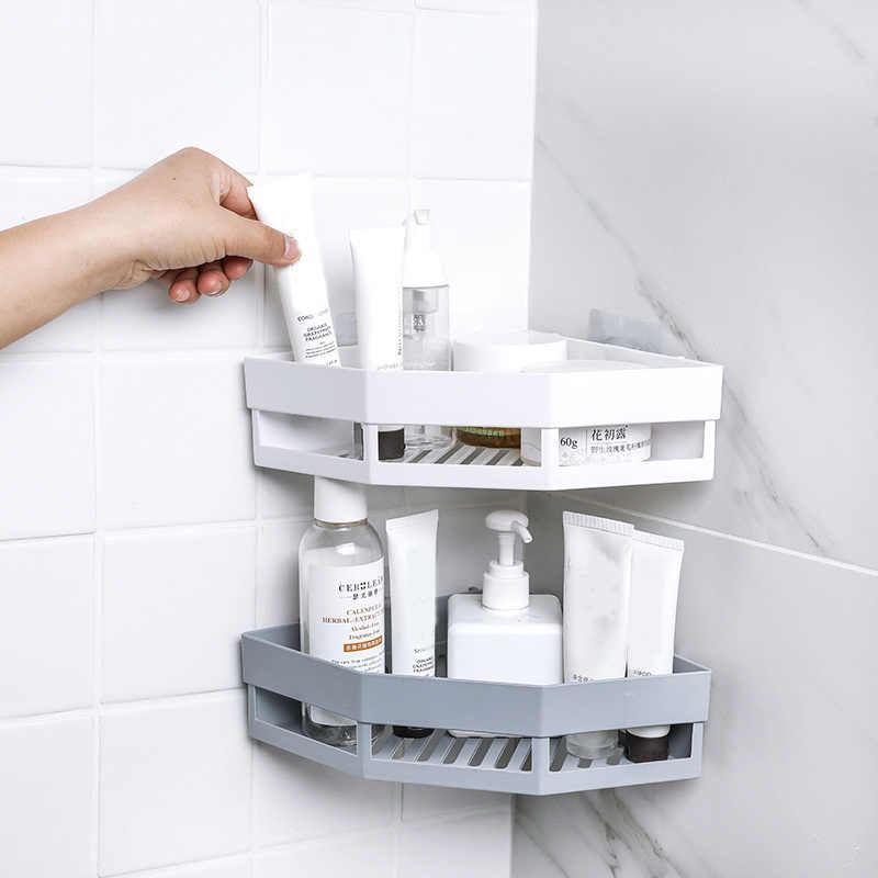 a6dea09c8b3c 1Pcs Triangle Corner Drain Shelf Kitchen Bathroom Storage Rack ...