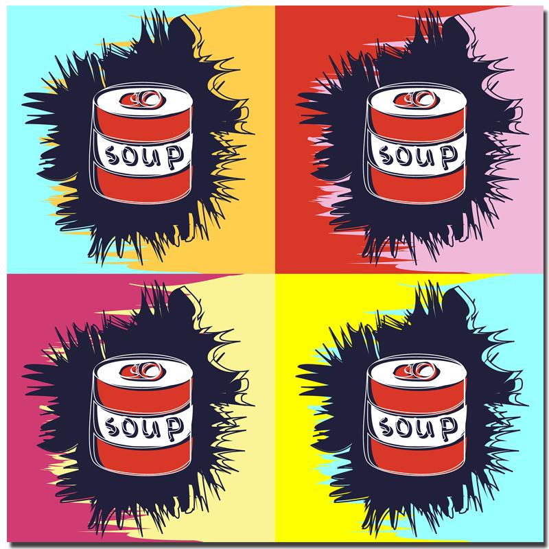 impresin lata de sopa serie de pared imagen de arte pintura de andy warhol en la lona para nios dormitorio decoracin arte de