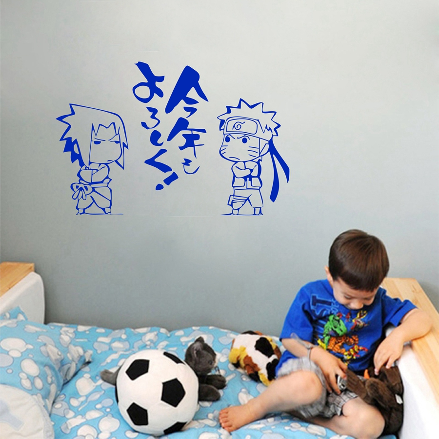 naruto characters wall decal youngspaces all your favorite cartoon characters in