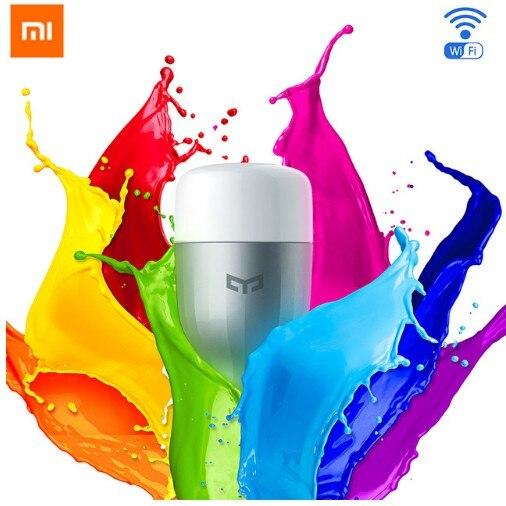 Original Xiao mi Yeelight Blau II LED Intelligente Birne (Farbe) e27 9 watt 600 Lumen mi Licht Smart Telefon WiFi Fernbedienung Großhandel