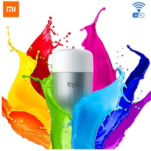 Original Xiaomi Yeelight Blau II FÜHRTE Intelligente Birne (farbe) E27 9 Watt 600 Lumen Mi Licht Smartphone WiFi Fernbedienung Großhandel