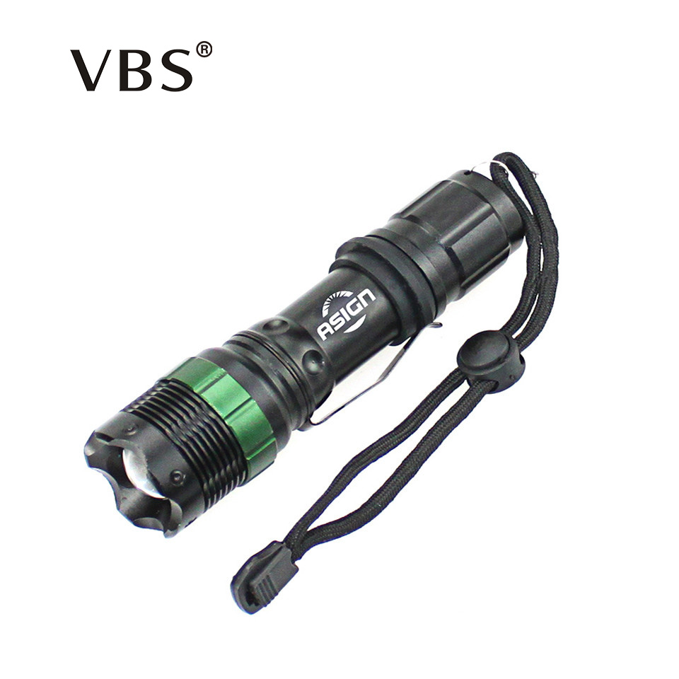 LED zaklamp CREE Q5 / XM-L T6 1000lm / 2000Lumen LED zaklamp Zoomable Cree LED zaklamp gebruik batterij 3xAAA of 1x18650