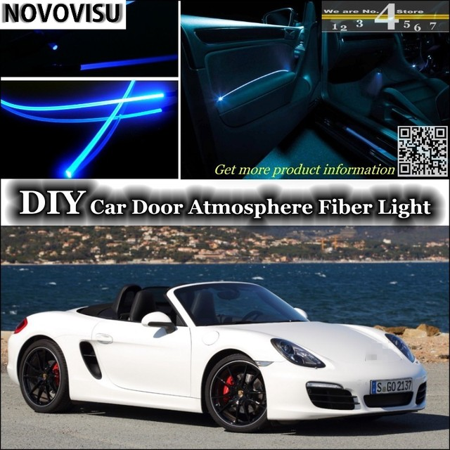 NOVOVISU For Porsche Boxster 986 987 981 Interior Ambient Light Atmosphere  Fiber Optic Lights Inside Door