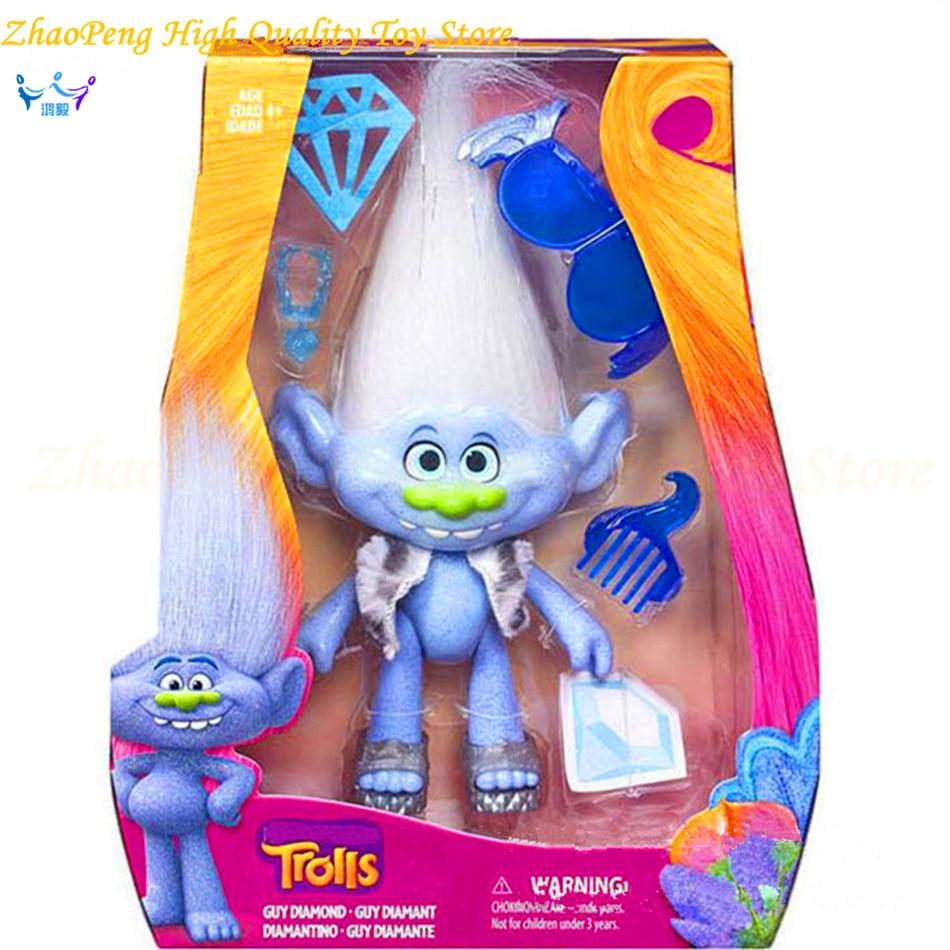 2017 New Dreamworks Movie Trolls Toys Action Figures Poppy Branch Troll PVC Kawaii Figures Toys for Children Kids Gifts SE38