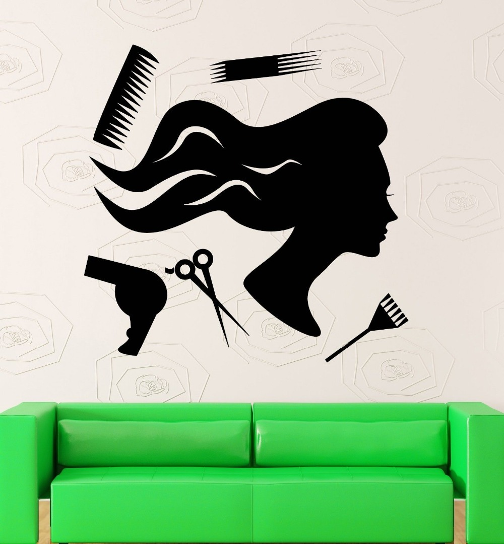 Sexy girl vinyl wall decal beauty design hair stylist hairdresser sexy girl vinyl wall decal beauty design hair stylist hairdresser mural art wall sticker hair shop salon window glass decor in wall stickers from home amipublicfo Gallery