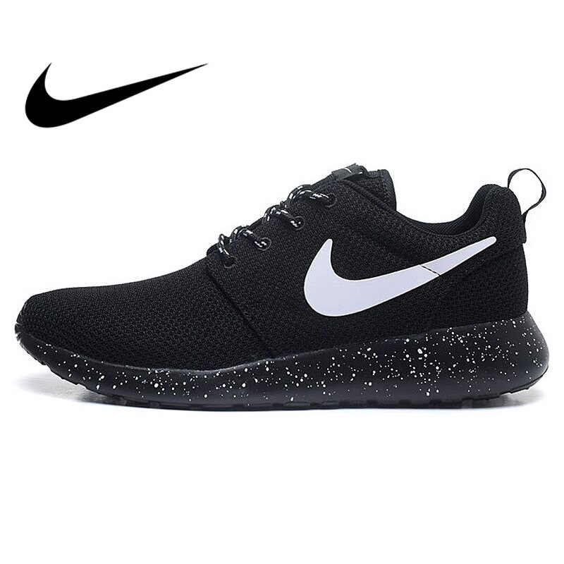 d4b30190c414 Original Authentic NIKE ROSHE RUN Men s Running Shoes Sport Outdoor  Sneakers Low Top Mesh Breathable Brand