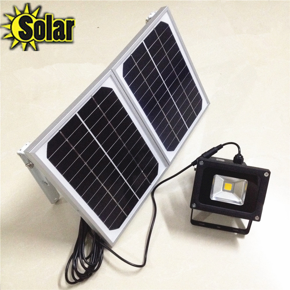 Здесь продается  10W LED Flood light Light with 6W*2 solar panel Waterproof Outdoor Garden Landscape Spotlight Wall Lamp Bulb Light sensor  Свет и освещение