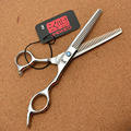 6'' 17.5cm Japan Kasho 440C Professional Human Hairdressing Scissors Thinning Shears Douuble Side Teeth 15% Thinning Rate H2001